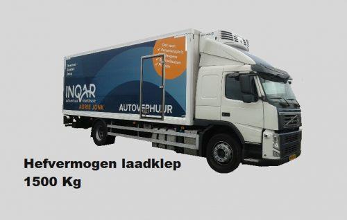 K53K Volvo FM Koelwagen 53m3 laadklep-slaapcabine