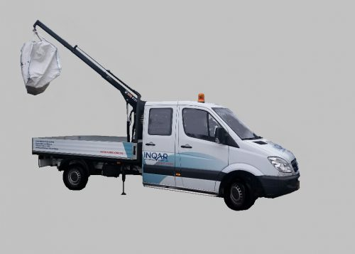 PU2 klasse Mercedes Sprinter Pick-Up met kraan 2